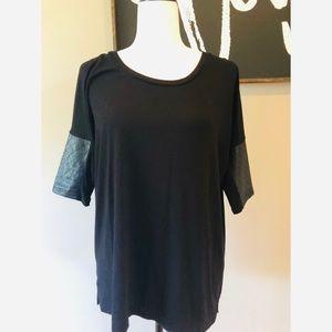Club Monaco black long sleeve blouse